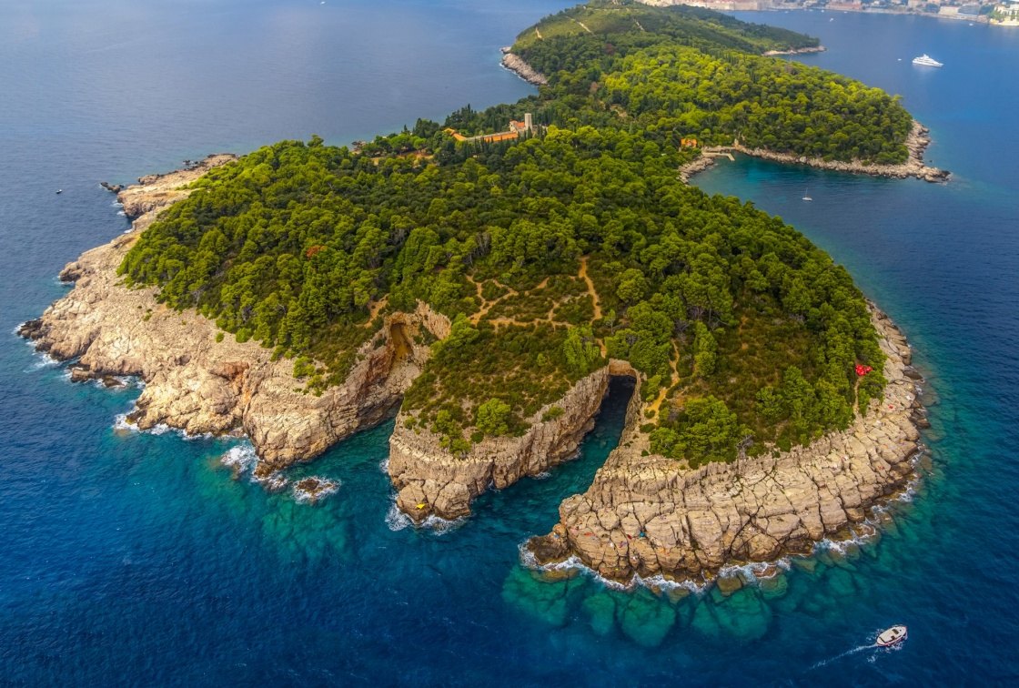 Lokrum Island and nature park near Dubrovnik, Croatia